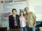 General Manager Chen and the client from the Dominica Republic