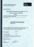 GL certitficate for container lashing and securing equipment