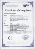 CE Certificate for CM & MPPT series Solar Charge Controller