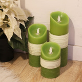 Swing Wick LED Electronic Candle Pillar Flameless Candle