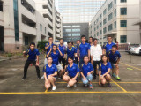 the first session of badminton match in Tonton