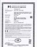Gas Tank CE Certificate