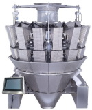 14 heads dimpled buckets multihead weigher for sticky products