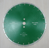 Diamond blade for reinforced concrete