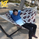 Double Layer Hammock With Cotton Jacquard Cloth