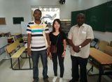 Rachel with her customer from Uganda