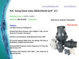Plastic PVC Swing Check Valve DIN ANSI JIS Bs Standard