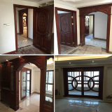 Sapele wood room door sliding glass door wood frame sill