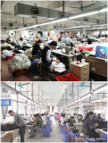 Guangzhou Lepanchuang Garment Knitting production workshop and tatting workshop production