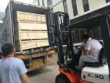 load to container of paper glue machine , paper creasing machine