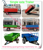 single axle trailer, New European Style Trailer Farm Machinery Tractor Mounted Dumping Trailer
