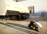 Stainless steel Fuel tank semi trailer exported to Kenya