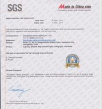 Certificate from SGS