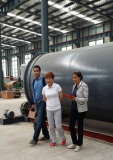 Malysia customer visit our pyrolysis plant factory
