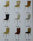 restaurant furniture wood dining chair with metal leg