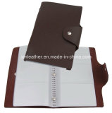 Business PU Leather Card Holder with PVC Sleeve