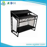DJ Booth Table, Mobile DJ Booth Bar, Foldable DJ Booth