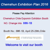 Chemshun 2016 Chile expomin exhibtion Booth alteration