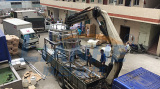 Mixing machine delivery and installation