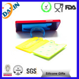2015 hot selling 3M silicone card holder attach to the back of smart phone with 10 times reusage