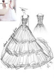 Customized Bridal Wedding Dresses From Pictures Sketches Gowns