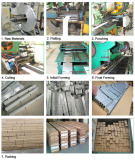Production process of aluminum open cell ceiling