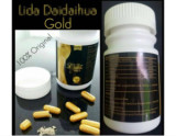 100% Natural Lida Gold Black Weight Loss Slimming Capsules