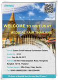OWNIC will attend Medical Fair Thailand 2017