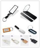 Tin luggage tag/Leather tag