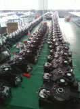 Moving head production line