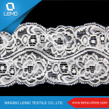 Elastic Tricot Lace of Nylon Spandex, Fancy Lace
