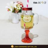 600ml Handle Glass Mason Jar with Base