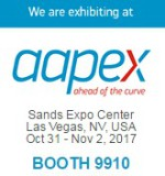 We are exhibiting at AAPEX 2017