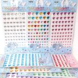 Rainbow heart crystal sticker,heart diamond sticker