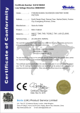 CE LVD certificate for mirror cabinet