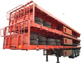 3 axles flat bed semi trailer