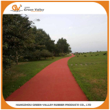 Jogging track made with EPDM granules