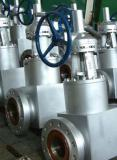 Square high pressure forged steel self sealing gate valve
