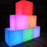 32′′ large cube table with remote control