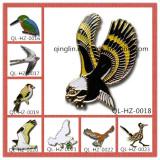 Bird Shape Metal Lapel Pin or Badge