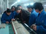 Germany expert Albert Rollicke on piano manufacturing makes visit to our company again and provides