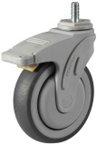 "5"" Medical caster with Brake TPR caster(Gray)"