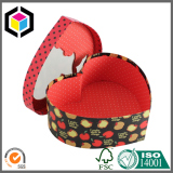 Heart Shape Rigid Cardboard Gift Box with Window