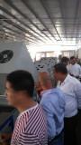 customer checking our fruit washing waxing drying sorting machine