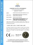 CE Certificate for Moulded Case Circuit Breaker