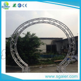 Aluminum curved truss circle truss wedding truss for a hotel client