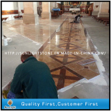 Mounting floor tiles