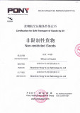 Certification for Safe Transport of Goods by Air part A