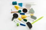 different shape kitchen cleaning brush