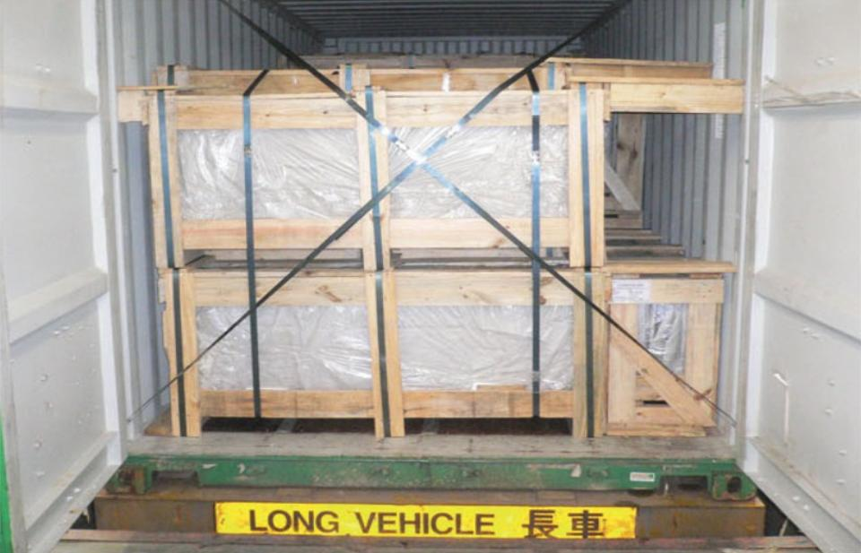 Picture of container transportation